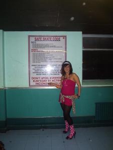skate central sheffield pink leopard print heels onesy
