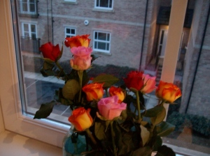 gorgeous roses from my lovely boy