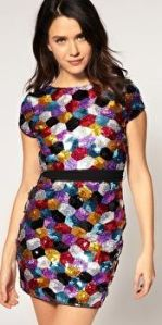 lipsy sequin dress christmas party dress multi coloured sequin asos