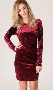miss guided wine coloured velvet bodycon long sleeve dress party dresses christmas