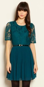 green lace dress vintage style skater dress gemma critchley fashion blog party dresses UK warehouse