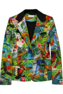 Net a porter altuzarra tropical print jacket