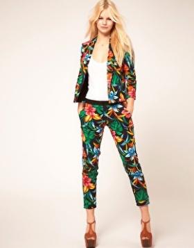 river island tropical print pant suit blazer altuzarra asos gemma critchley fashion blogger