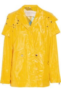 Burberry Brit jacket yellow coated cotton